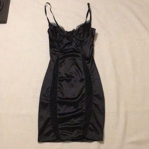 Dolls Kill black lace insert underwire dress